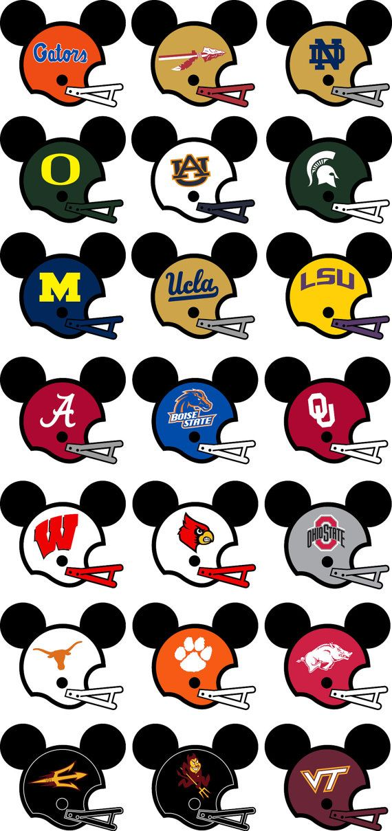 Disney shirt fully customizable with your favorite football team.  Dark Heather is not available for toddler shirts.  If you would like something on the back it is an additional $4.00/ per shirt. Please scroll down to the bottom of the sizes drop down box to select your shirt with the additional charge.  Navy and Purple shirts will have a white outline around the black Mickey head.  When placing your order please make a note about what team, name, and back design you would like.  The shirts…