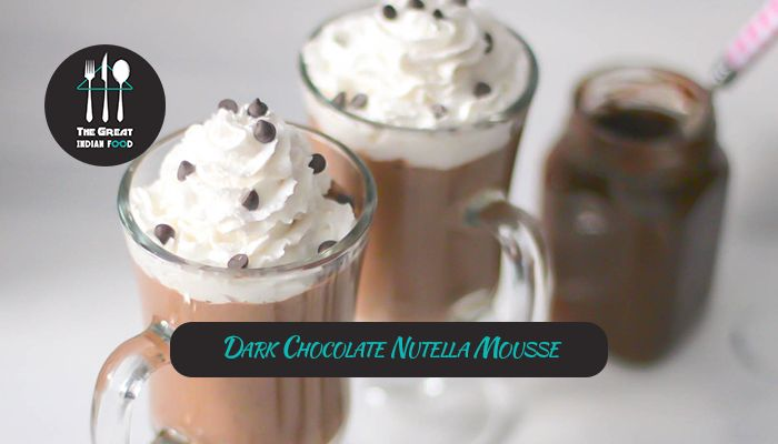 Dark Chocolate Nutella Mousse