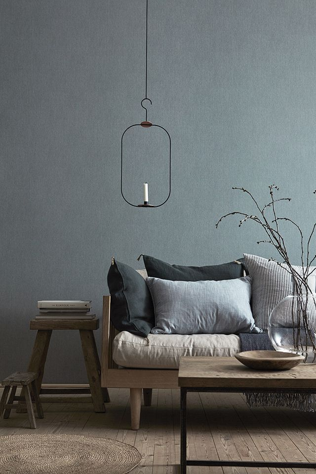 Gorgeous grey/blue tones for a living room