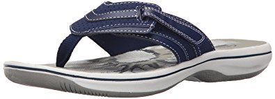 These Clarks Women's Breeze Sea Flip Flop sandals for summer are a sporty, lightweight sandal that come in LOTS of FUN colors.