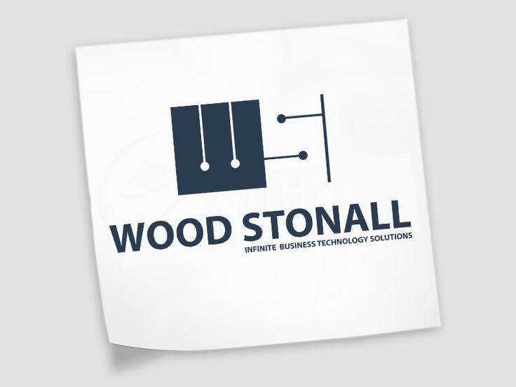 Wood Stonal Logo Design Concept #ITlogodesign #simplisticdesign
