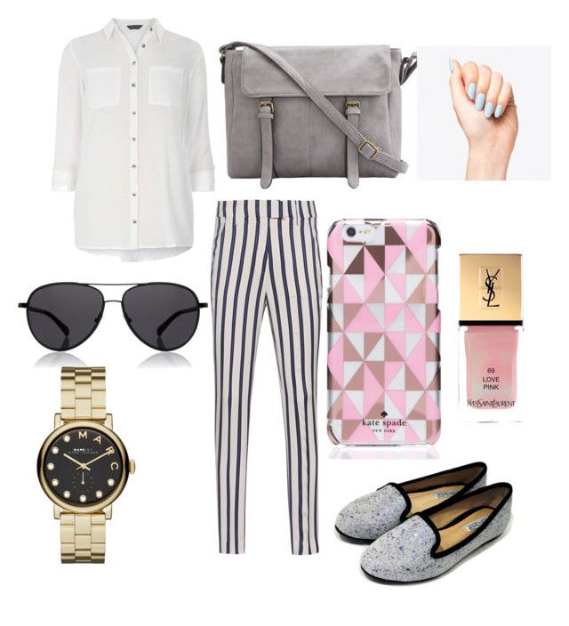 """""""Untitled #7"""" by mayapriskilla on Polyvore featuring Dondup, Dorothy Perkins, Kate Spade, The Row, Marc by Marc Jacobs and Yves Saint Laurent"""
