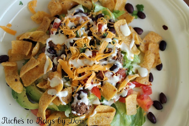 Fritos Taco Salad. Easy kid friendly and family favorite.