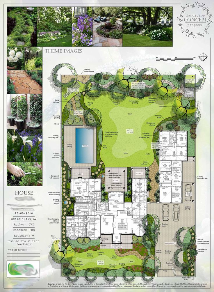Residential landscape architecture plan landscaping for Residential landscape plan