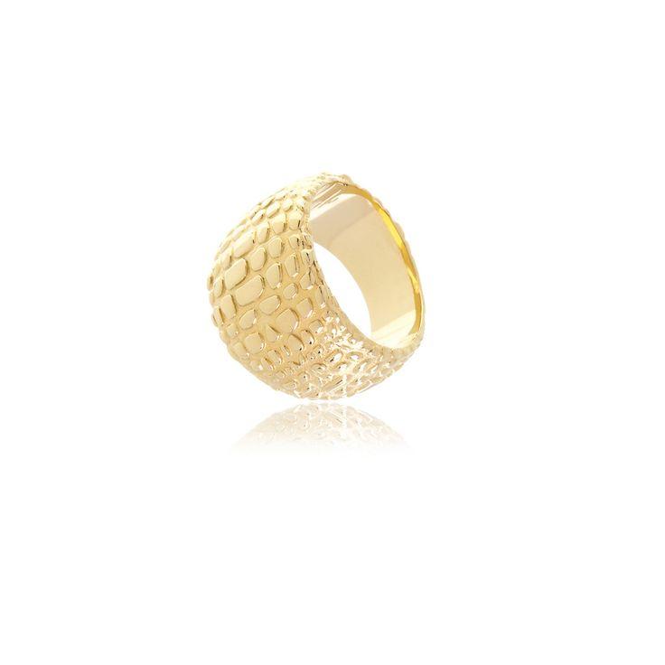 Reverie Gold Animal Print Ring