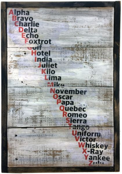 NATO Phonetic Alphabet on Rustic Boards – Echo and Ben Design Shop