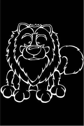 Keshond Decal Dog