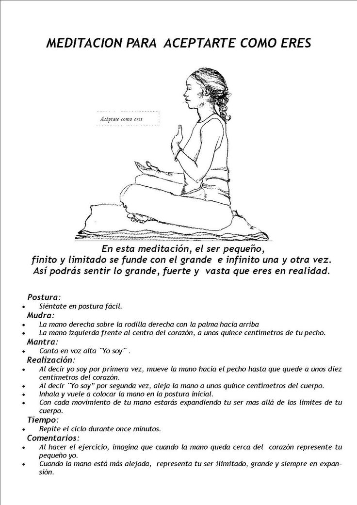 Meditación Para aceptarnos como somos