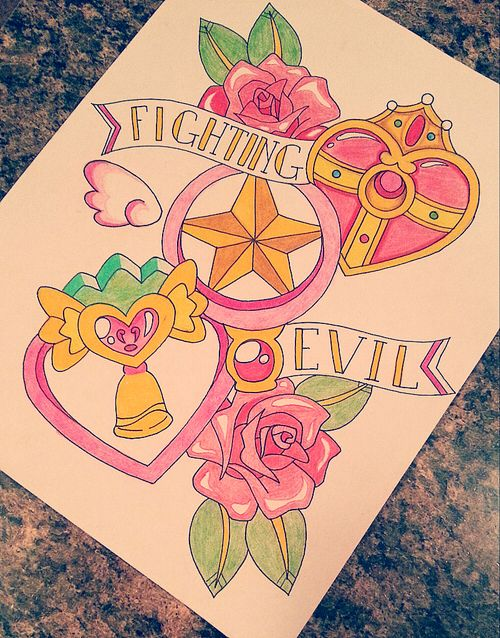 ~Magical Girl~ tattoo design (Sailor Moon, Cardcaptor Sakura and Tokyo Mew Mew)