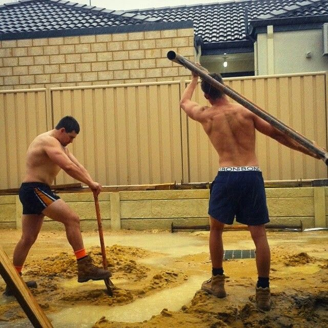 These Gay Builders Have A Plow On The Job