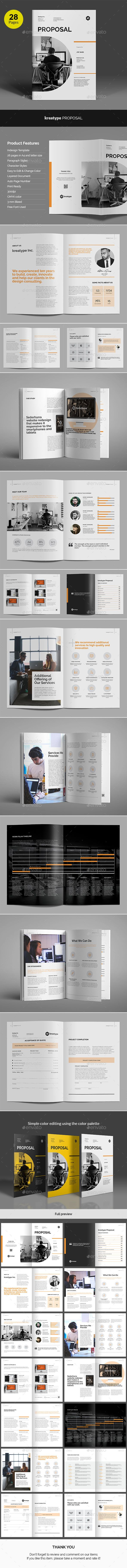 Kreatype Business Proposal Template InDesign INDD. Download here: https://graphicriver.net/item/kreatype-business-proposal-v03/17263548?ref=ksioks