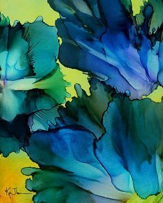 In Bloom by Kim Thompson Wow on those DEEP Blue colors Kim! Just gorgeous!! :D