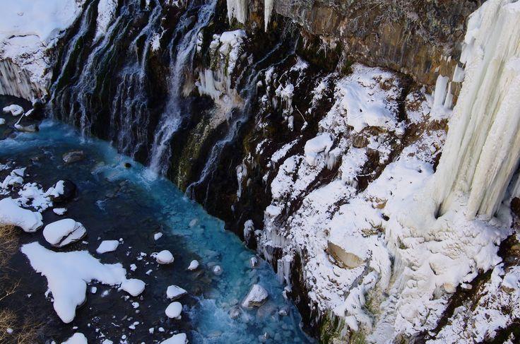 白金温泉 白髭の滝