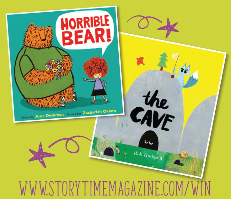 Horrible Bear and The Cave - two brilliant new books to win with Storytime magazine! Enter here: http://www.storytimemagazine.com/win