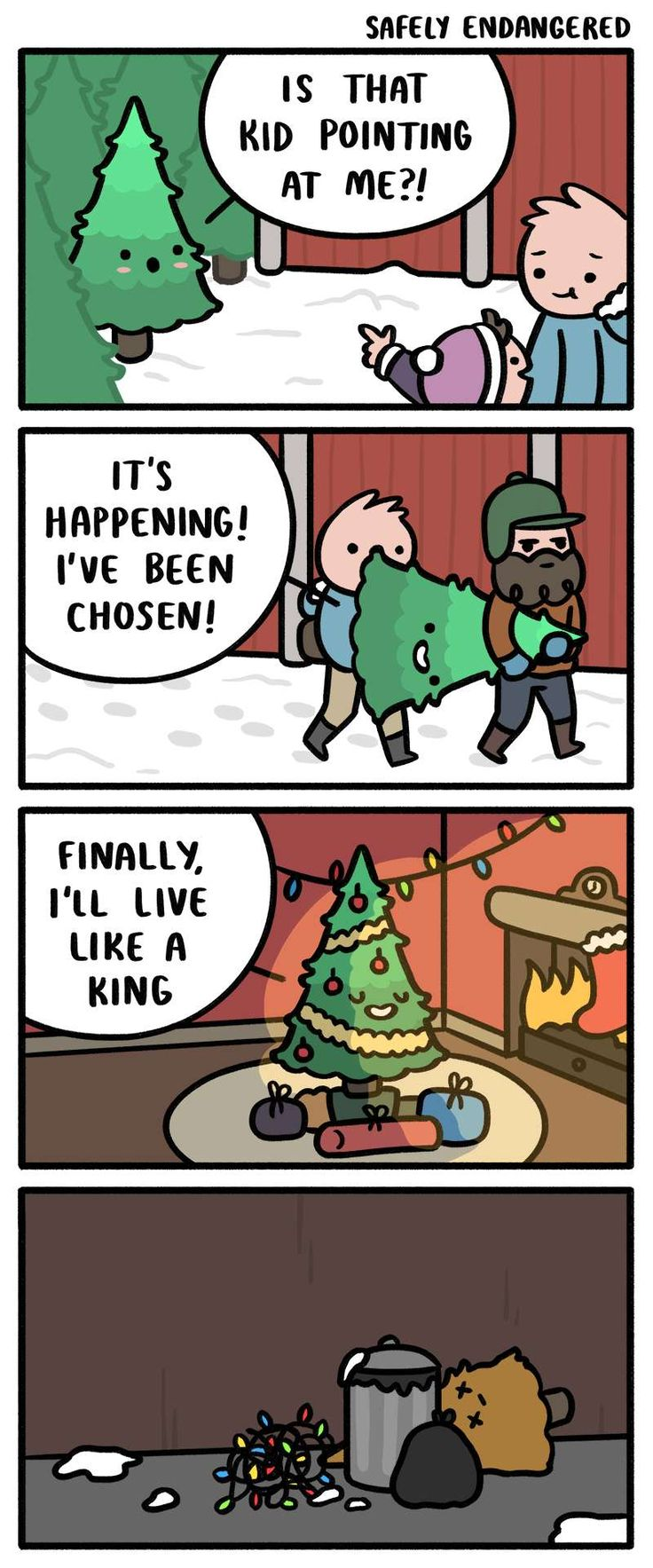 Safely Endangered :: Happy Holidays | Tapastic Comics - image 1