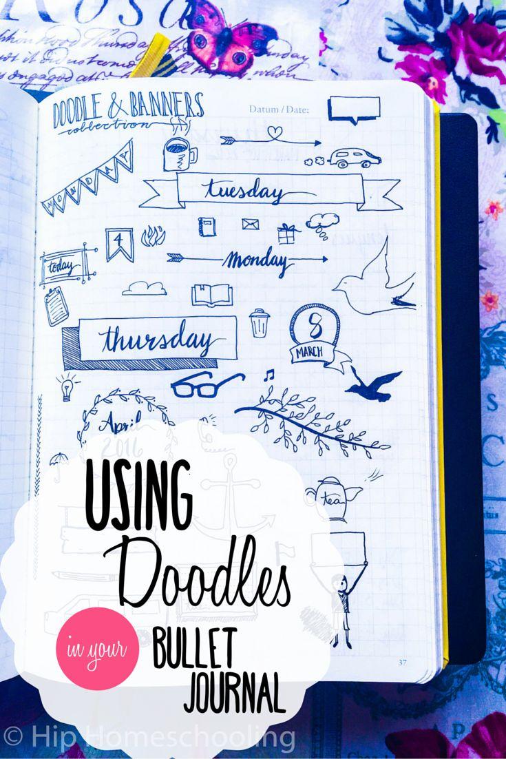 Using Doodles in your Bullet Journal: Bullet Journaling | Bujo | Bullet Journal Junkies | Planner | Planning | Doodles | Doodling | Planner icons | Planner Doodles | Banner Doodles | Bujo junkies | homeschool planner