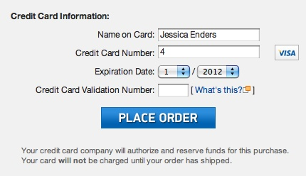 """When a form becomes electronic, we can do all sorts of clever things to make the form-filling experience much better, like asking only relevant questions. In payment forms Credit card type field is odd since the card type can be deduced from the card number. Here as soon as I have entered the number """"4"""", it recognizes that I'm entering a Visa card number, and the Visa card logo appears to the right of the number field, as a positive feedback."""