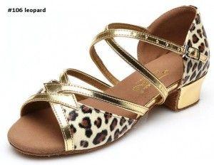 latin dance shoes professional #106 leopard