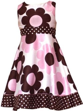 Rare Editions Girls Pink Brown Floral Print Easter Dress  $32.95 - $36.99    Dress: 100% Polyester  Lining: 100% Polyester  Crinoline: 100% Polyester  Mashine wash cold, line dry