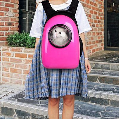 Chic Pink Dog Cat Small Pet Carrier Bag Travel Shoulder Backpack Creative Window
