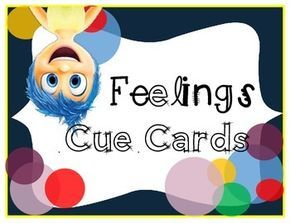 After seeing the movie, Inside Out, I KNEW I had to incorporate it into my classroom.  Every year we have students who struggle to not only identify their emotion, but express it appropriately.  I love using cue cards.  Depending on the student, I may let them carry the cards on a key ring or I may print a cue card and tape it to their desk.