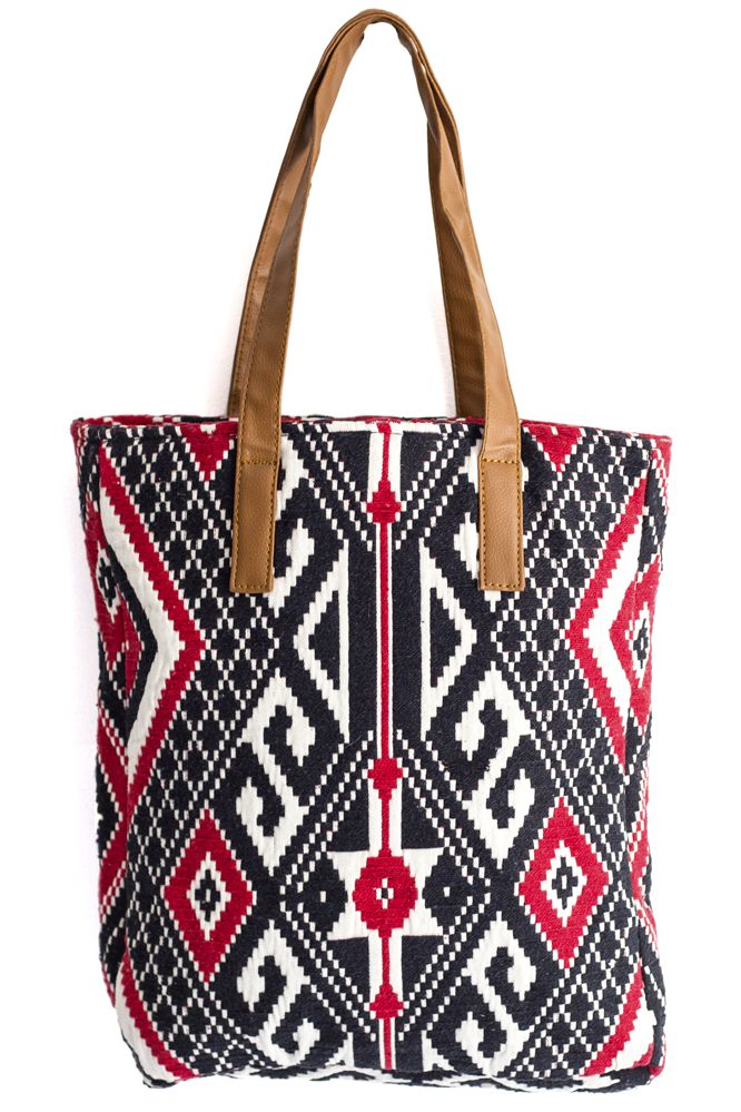 Make a bold statement with this printed tote.