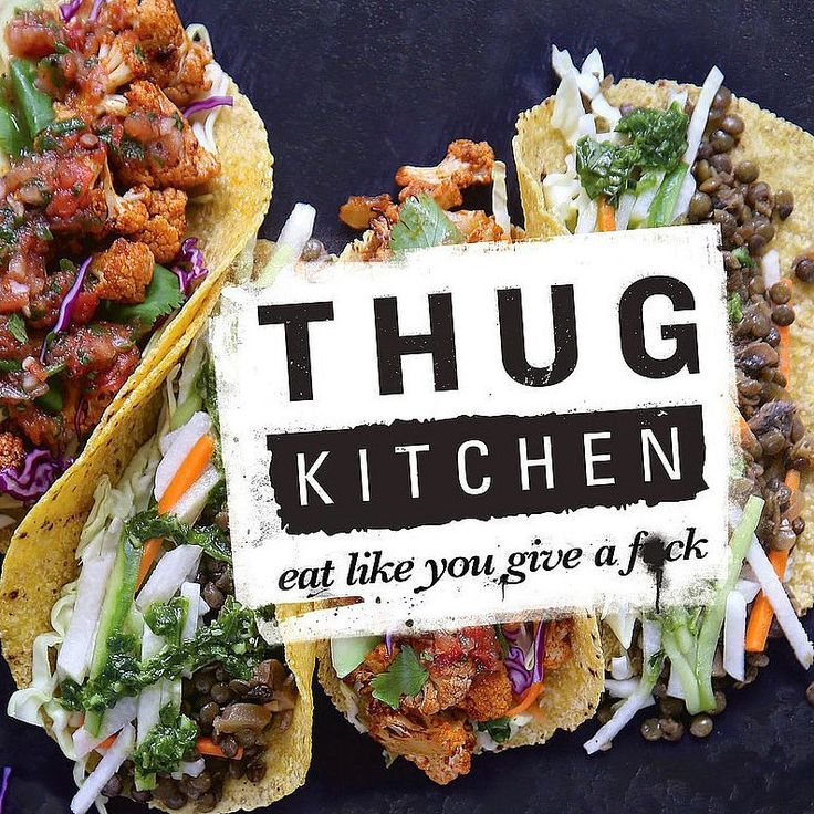 "Thug Kitchen's Veggie Mission Is to Get You to ""F*cking Eat That Sh*t"": Source: YouTube user Thug Kitchen Michelle Davis and Matt Holloway are the foulmouthed makers of Thug Kitchen, a vegan blog that aims to ""yell at people to eat a g*ddamn salad"" ."