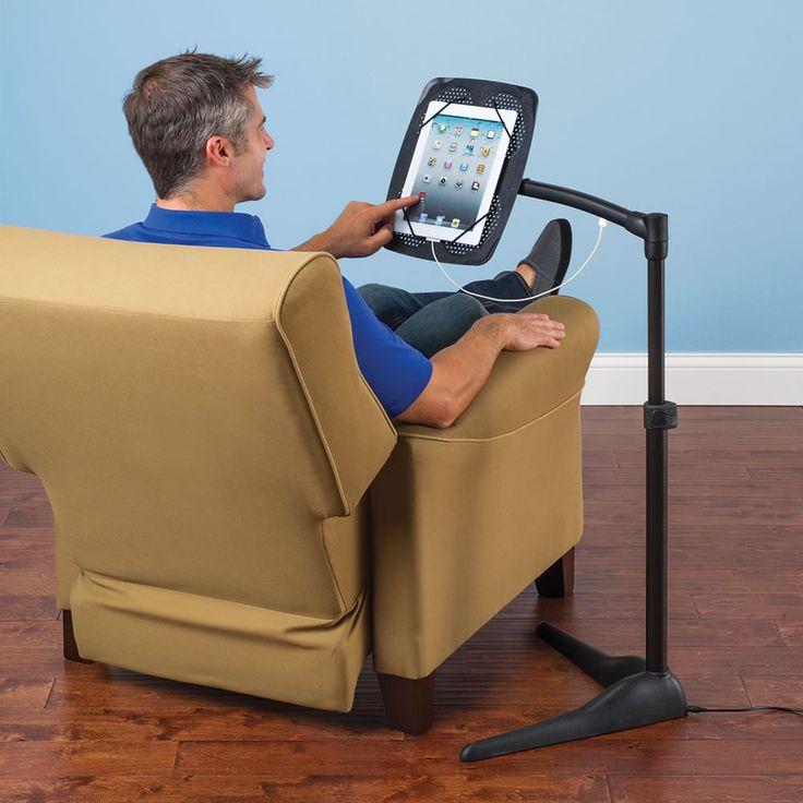The iPad Charging Floor Stand - Hammacher Schlemmer