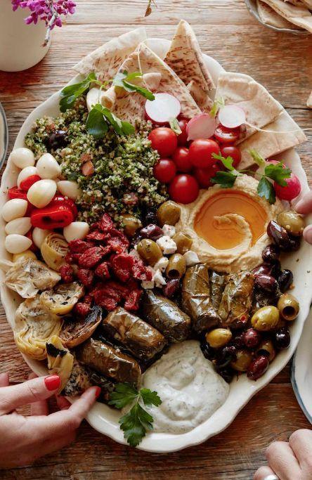 Vegetarian Mezze Platter from http://www.whatsgabycooking.com - it's the ULTIMATE appetizer platter (/whatsgabycookin/)