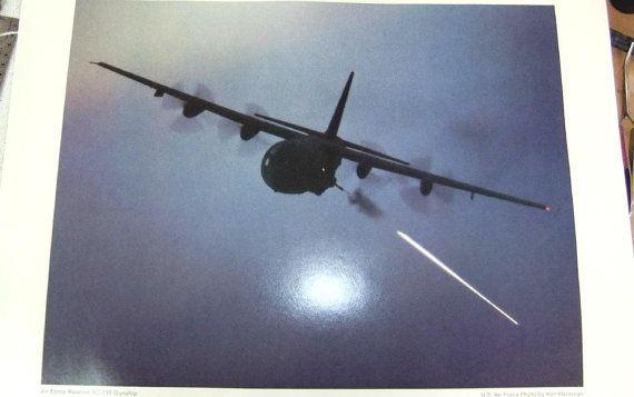 US Air Force C-130 Gunship Lithograph Series  Air Force