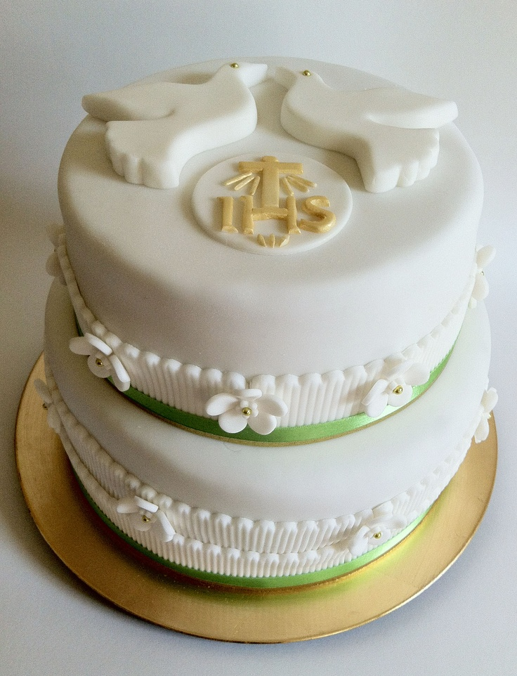 #First Communion Cake for two boys