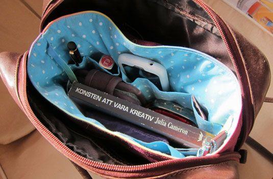 Väskinsats - alltid ordning i handväskan