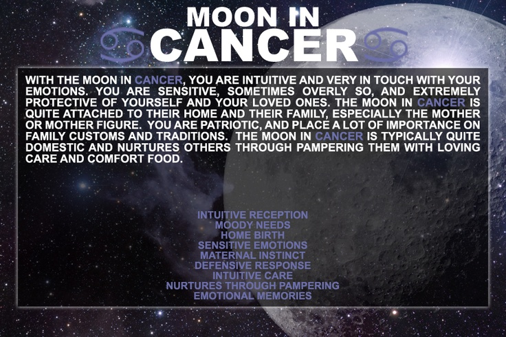 Completely me though. As I get older, the more it's true. Ugh. MOON IN CANCER