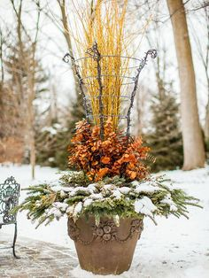 Holiday container designs | ... adds height and a structure to attach lights for a holiday container