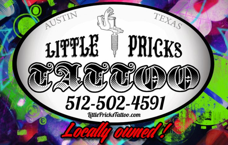 We're an all disposable tattoo shop here in Austin Texas! That means new needles, new ink, and new tubes every time! We always properly dispose of our used materials! We've been known as the best tattoo shop in Austin, Texas Round Rock and Pflugerville! We're Located@11815 North FM 620 Austin TX 78750. 512-502-4591 www.littleprickstattoo.com