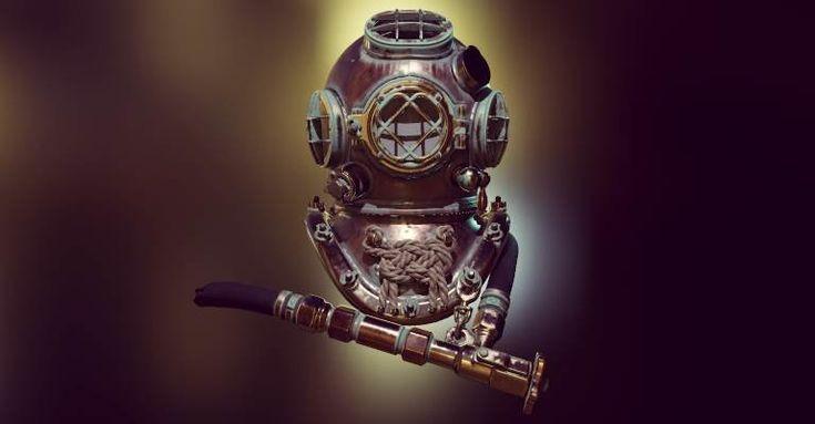 Marmoset Viewer Diving Helmet + 208 Update Video, Joe Wilson on ArtStation at https://www.artstation.com/artwork/rlOY2