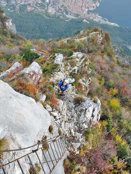 Via ferrata over Riva del Garda, Italy. Photo by Jon Shave