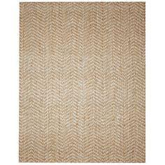 Lovely Elysian Natural Herringbone Jute And Wool Rug (8u0027 X 10u0027) By Jani