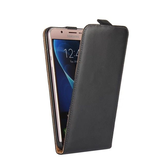22ce83e4581 Genuine Leather Magnetic Vertical Flip Case For Samsung Galaxy J1 J3 J7  2016 leather case Up Pouch Cover Mobile Phone Bag Review