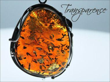 Lourd pendentif ambre cognac sur argent massif, garantie 5 ans, pièce unique, travaillée main