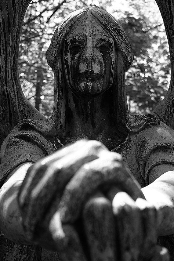 A famous statue from Lake View Cemetery located in Cleveland, Ohio. The Haserot Angel of Death gravestone monumen