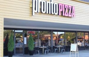 sign for Pronto Pizza, Clackamas, OR