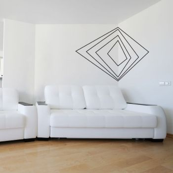 corner art wall decal