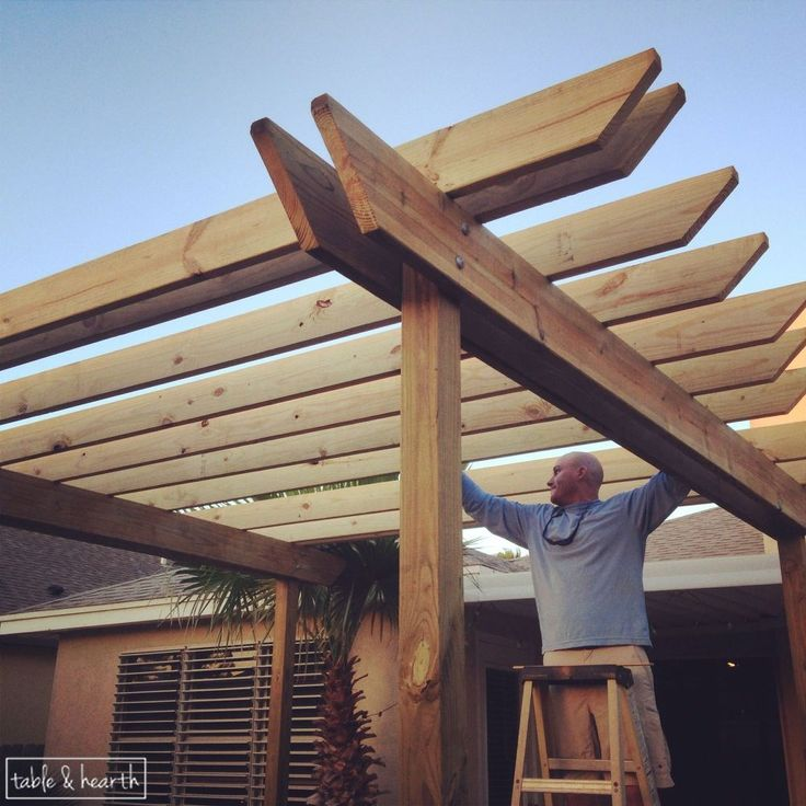 DIY Wood Pergola   Hometalk so blessed to have a handyman husband who not only can do pretty much anything but his specialty is wood & building awesome stuff !!!