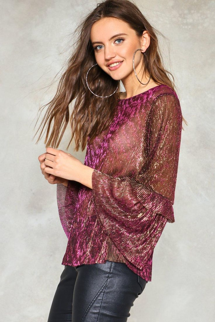 I Was Made for Dancing Metallic Blouse | Shop Clothes at Nasty Gal!
