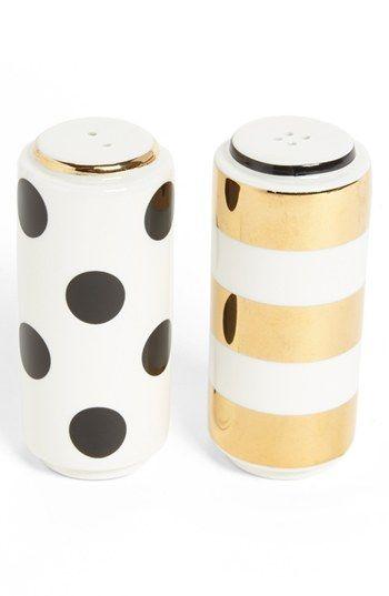 kate spade new york 'fairmount park - dot stripe' salt & pepper set