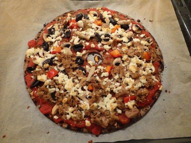 Recept: Knäckebrödspizza