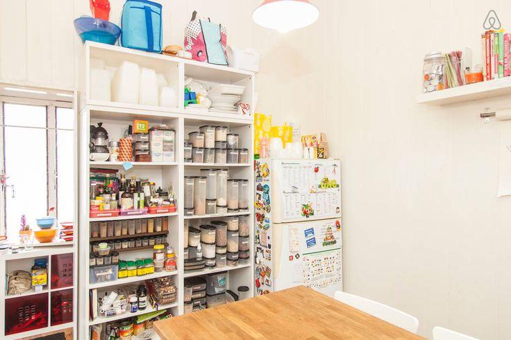 Open plan cupboard space...