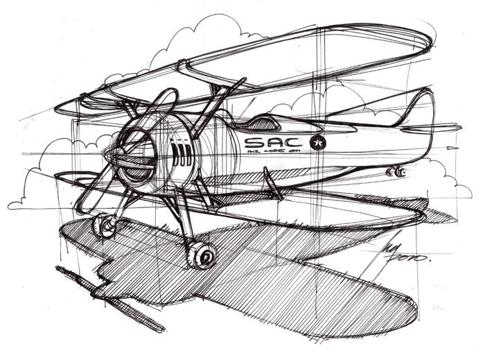 Art for baby room? Sketch-A-Day 252: Bi-Plane by Spencer Nugent