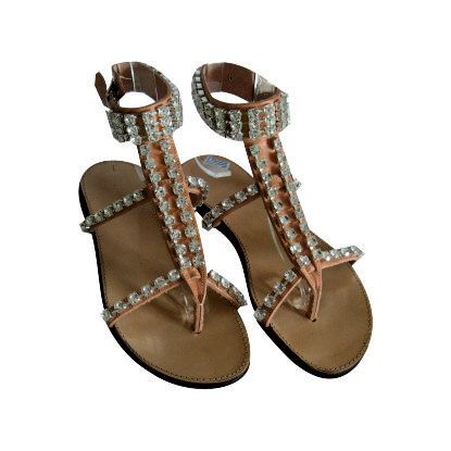 Leather Swarovski sandals Many colours Made from by EATHINI